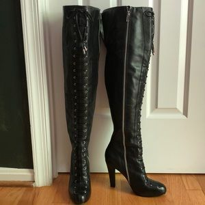Jessica Simpson Shoes - Jessica Simpson Mitton Lace Up Over Knee Boots